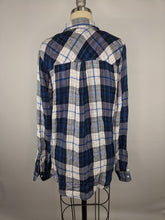 Load image into Gallery viewer, Lucky Brand sz M Pleat Back Duofold Flannel Shirt NWT