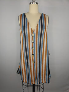 Free People Womens Bridget Stripe Tank Top sz M NWT