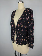 Load image into Gallery viewer, Free People Womens El Paso Top Black sz L NWT