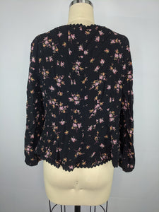 Free People Womens El Paso Top Black sz L NWT
