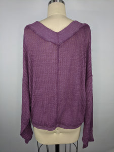 Free People South Side Thermal sz M Damaged NWT $68