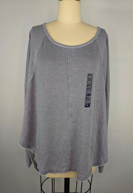 Lucky Brand Womens Exposed Seam Thermal Shirt sz XL Heather Gray NWT $49.50