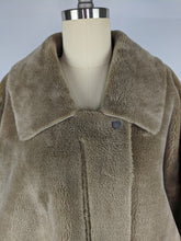 Load image into Gallery viewer, Free People Womens Teddy Coat sz L Lindsay Sherpa Jacket Neutral Tan NWT $168