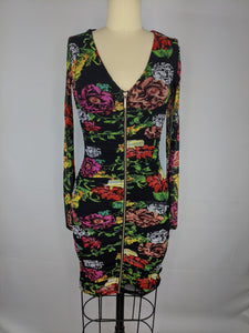 GUESS Womens Long Sleeve Kinzie Dress sz XS Floral Room of Blooms Print NWT $108