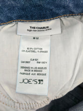Load image into Gallery viewer, Joes Jeans Women sz 32 The Charlie High Rise Skinny Ankle Tuxedo Stripe NWT $198