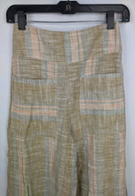 Load image into Gallery viewer, Free People Womens Pants sz S Beige Stripe Moonlight Pull On Wide Leg NWT $108