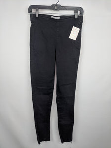 Free People Womens Jeans sz 26 Black Easy Goes It Skinny Jegging Legging NWT $58