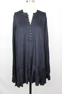 Free People YOUR GIRL TUNIC sz S in BLACK NWT $78
