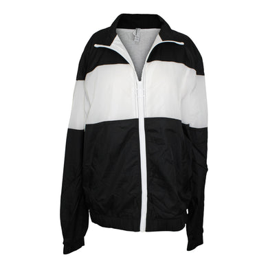 American Apparel Nylon Team Jacket Adult sz M in Black and White NEW $60