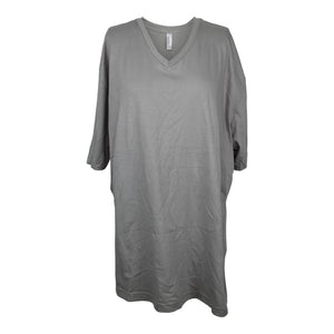 American Apparel Adult Organic Fine Knit Jersey Classic V-Neck XL Nickel NEW $22