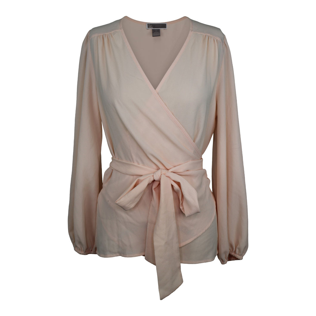Chelsea28 Wrap Blouse sz S in Blush Pink NWT $79