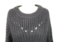 Load image into Gallery viewer, Elodie Open Stitch Pullover Sweater sz XL in Black NWT $30