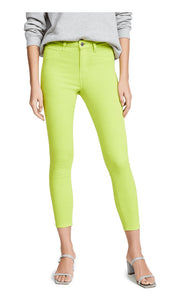 Women L'AGENCE Margot High Rise Skinny Jean sz 29 Chartreuse Neon Green NWT $255