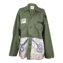 Load image into Gallery viewer, Vintage Army Jacket Reclaimed With Hermes Les Cles Scarf