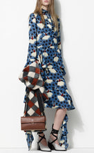 Load image into Gallery viewer, Women MARNI Skirt sz 40 S Silk Georgette Pirouette Blue Ballerina Polka Dot NWT
