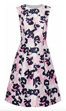 Load image into Gallery viewer, Oscar De La Renta Dress 6 Pink Floral Fit Flare Silk Satin Made Italy NWOT $2940