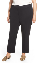 Load image into Gallery viewer, Plus Size Womens Sejour Straight Leg Ankle Pants Size 22W in Black NWT $89