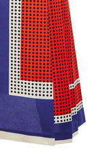 Load image into Gallery viewer, Womens SUNO Dress sz 6 Ivory Blue Red Black Geometric Print US Made NWT $1835