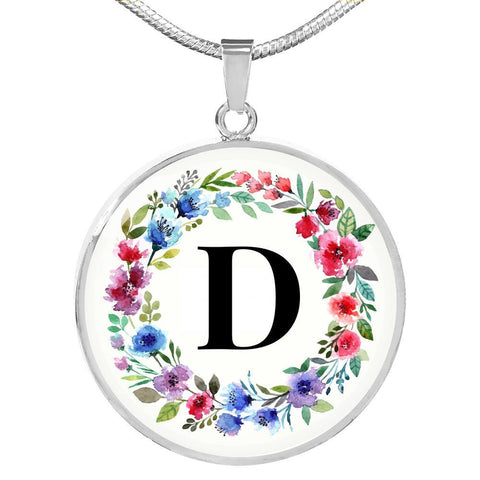 Letter D Pendant Necklace Personalized in 18k Gold or Stainless Steel - Poppies And Thyme