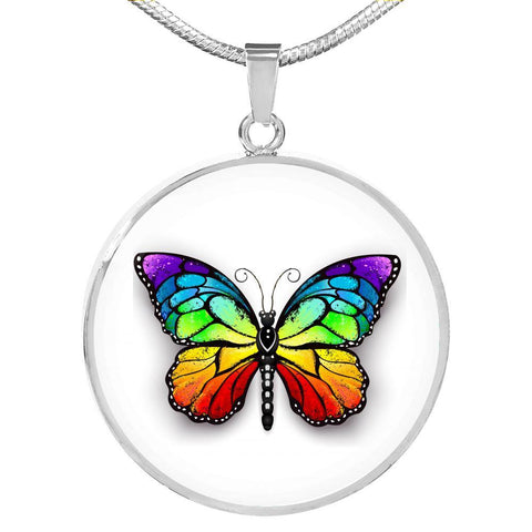 Butterfly Pendant Personalized Necklace in Gold or Stainless Steel