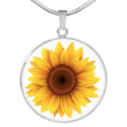 Daisy Flower Pendant Necklace Personalized in 18k Gold or Stainless Steel