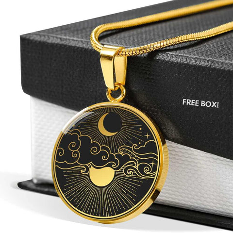Moon and Stars Pendant Necklace Jewelry Personalized in 18k Gold or Stainless Steel - Poppies And Thyme