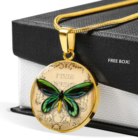 Butterfly Green Pendant Necklace