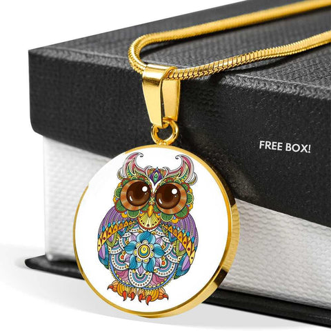 Owl Pendant Necklace Gold