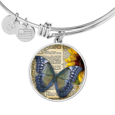 Butterfly Bangle in Blue