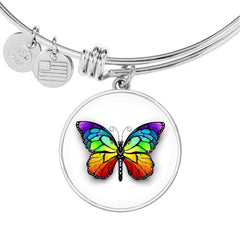 Butterfly Bangle Bracelet in SS