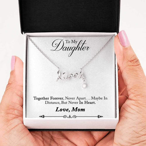 Mother to Daughter Love Necklace - Poppies And Thyme