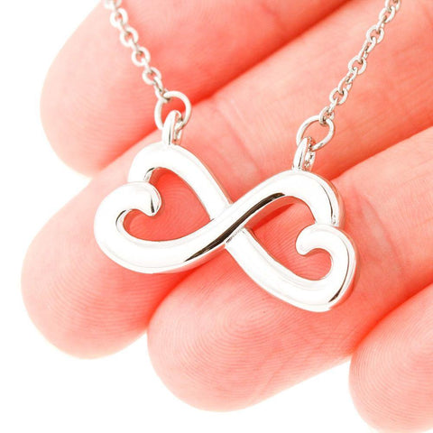 Mother Daughter Heart Shaped Infinity Pendant Necklace in 14k White  Gold or 18k Yellow Gold - Poppies And Thyme