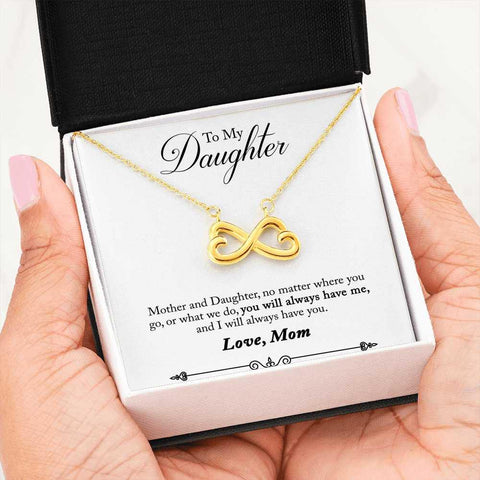 Mother Daughter Heart Shaped Infinity Pendant Necklace in 14k White  Gold or 18k Yellow Gold