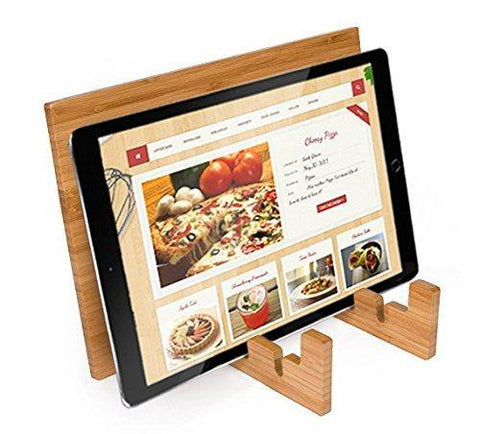 Bamboo Cookbook Stand with Gift Quality Presentation Box