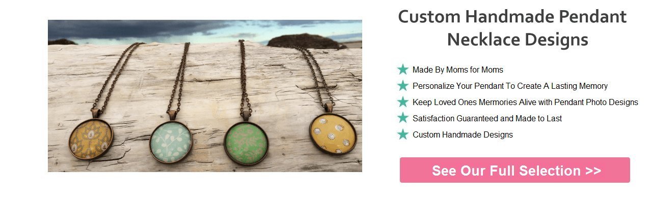 Custom Handmade Circle Pendant Necklace Designs In Gold and Range of Styles