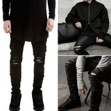 Men's fashion flanging jeans
