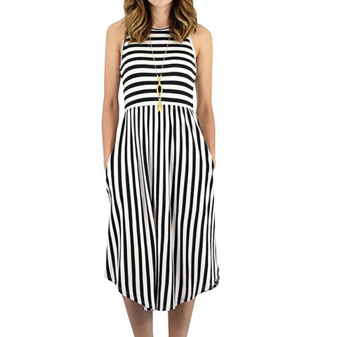 Womens Dress Striped