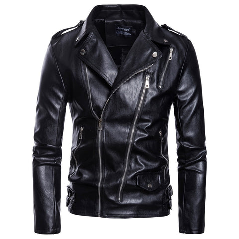 Mens Motorcycle Leather Jacket  New