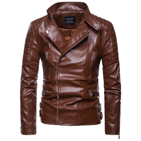 Arrival Mens Motorcycle Leather Jacket