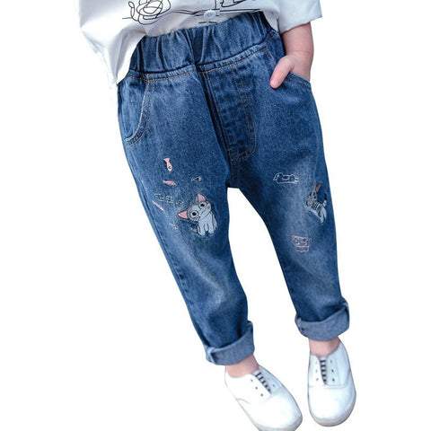 Baby Girls Embroidery Jeans