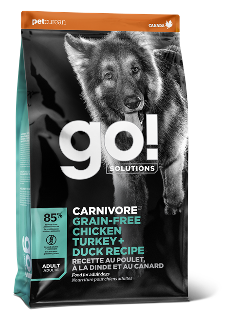 GO! CARNIVORE Chicken, Turkey + Duck Adult kibble 1.6kg