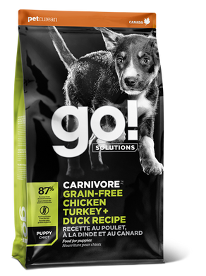 GO! CARNIVORE Chicken, Turkey + Duck Puppy kibble 1.6kg