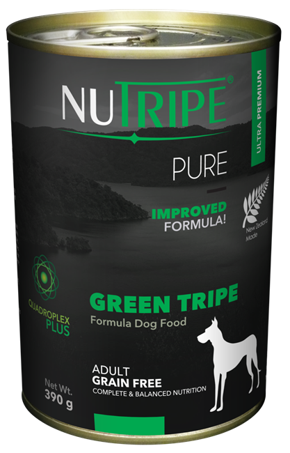 NUTRIPE PURE Green Tripe Formula Dog Food 390g cans