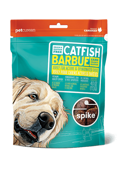 SPIKE Catfish Jerky Dog Treats (4oz/113g)