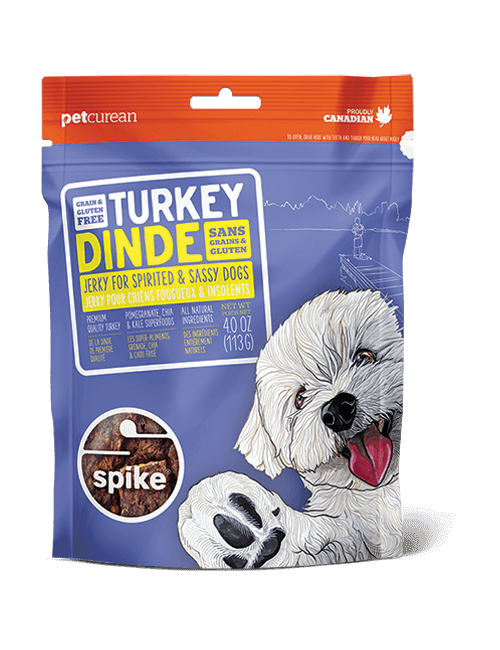 SPIKE Turkey Jerky Dog Treats (4oz/113g)