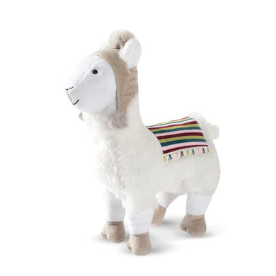 Fringe Studio HOLIDAY BEANIE LLAMA Plush Squeaker Dog Toy