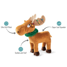 Load image into Gallery viewer, Fringe Studio MERRY CHRISMOOSE! Plush Squeaker Dog Toy