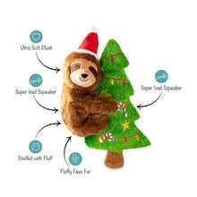 Load image into Gallery viewer, Fringe Studio MERRY SLOTHMAS! Plush Squeaker Dog Toy