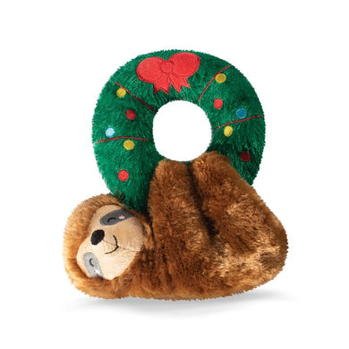 Fringe Studio SLOTH FROM WREATH Plush Squeaker Dog Toy