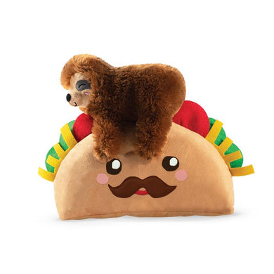 Fringe Studio TACO SLOTH Plush Squeaker Dog Toy